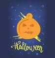 happy halloween party flat vertical poster vector image vector image