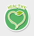 healthy organic food with natural leaf vector image vector image