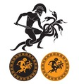 Hercules and Hydra vector image vector image