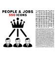 hierarchy men icon with bonus vector image vector image