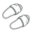 hotel slippers or home footwear isolated pair vector image vector image