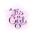 its a girl text vector image vector image