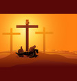 jesus is taken down from cross vector image vector image