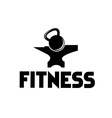kettlebell on anvil vector image vector image