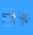 landing page online tax smart digital payment vector image vector image
