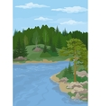 Landscape with Trees and River vector image vector image