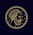 man beard monoline vector image vector image