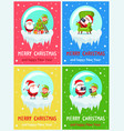 merry christmas decorations vector image vector image