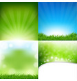 nature posters set with bokeh vector image vector image