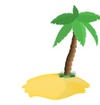 Palm tree on island vector image