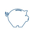 piggy saving money vector image vector image