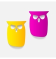 realistic design element owl vector image vector image