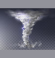 realistic hurricane tornado with lightning vector image vector image