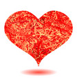 red heart isolated vector image vector image