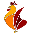 Rooster logo cook icon abstract vector image