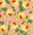 Seamless floral patter with yellow roses vector image