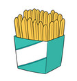 set frenchfries vector image vector image