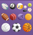 set of sport balls isolated collection vector image