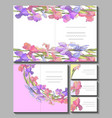 set with floral romantic templates vector image