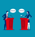 successful business person a speaking at podium vector image vector image