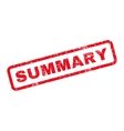 Summary Rubber Stamp vector image