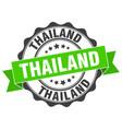 thailand round ribbon seal vector image vector image