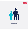 two color grandson icon from family relations vector image
