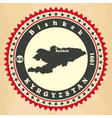 Vintage label-sticker cards of Kyrgyzstan vector image