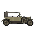 Vintage military car vector image vector image