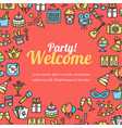 welcome party invitation card vector image vector image
