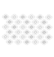 White Vintage Wallpaper with Flower Pattern vector image vector image