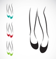 Woman legs with shoes vector image vector image