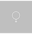 woman sex computer symbol vector image vector image