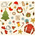 Winter and Christmas seamless pattern Hand drawn vector image