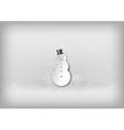 christmass snowman grey vector image