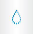 drop of water rain icon design vector image