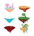 set of game islands vector image