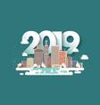 2019 winter urban landscape vector image vector image