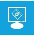 3D movie monitor icon vector image vector image