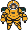 aquanaut vector image vector image