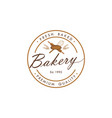 bakery dessert sign logo template design vector image