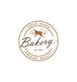 bakery dessert sign logo template design vector image vector image