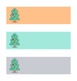 Banners with christmas tree vector image vector image