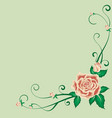 beautiful vintage pattern with a tea rose in vector image