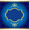 blue elegant card with golden decor vector image vector image