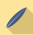 blue surfboard icon flat style vector image vector image