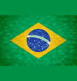 brazil country flag of brazilian nation vector image