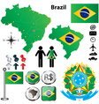 Brazil map vector image