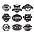Business badges set in retro design style