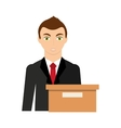 businessman avatar with business icon vector image vector image